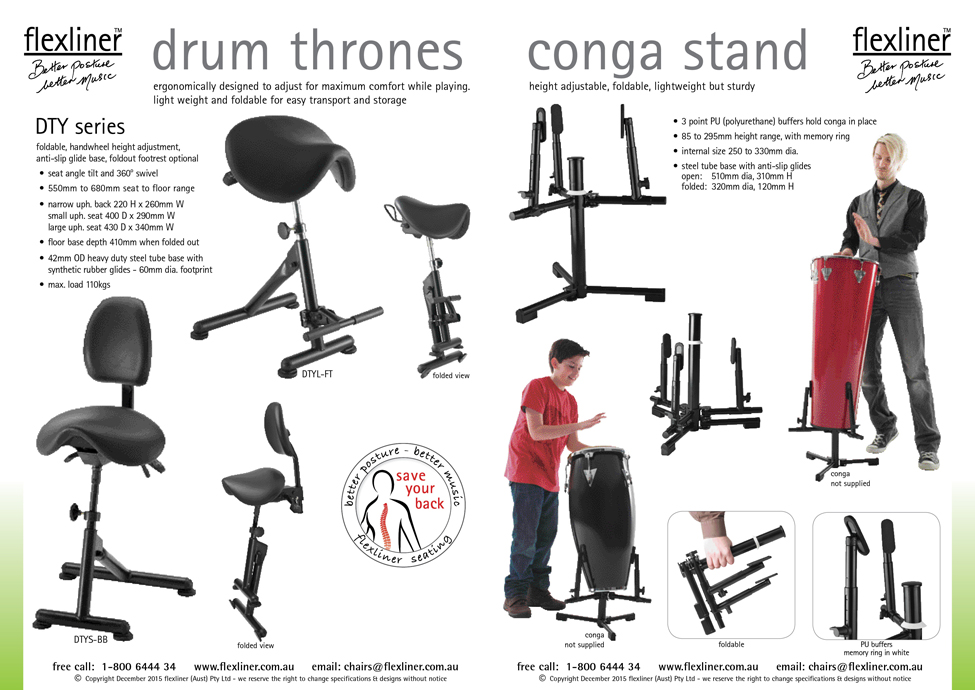 Drummer Thrones & Conga Stand