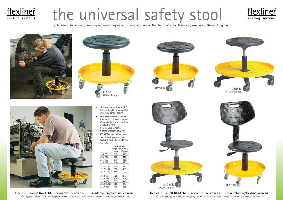 The Universal Safety Stool | Seating Systems | Flexliner Australia